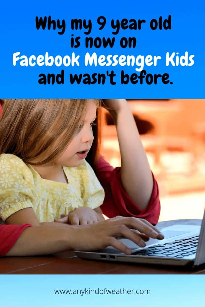Why my 9 year old is now on Facebook Messenger Kids but wasn't before