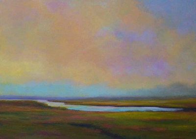 Yellow Sky - Oil Painting by Janet Howard-Fatta