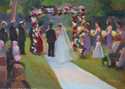 Live Event Ceremony Painting in West Orange, NJ