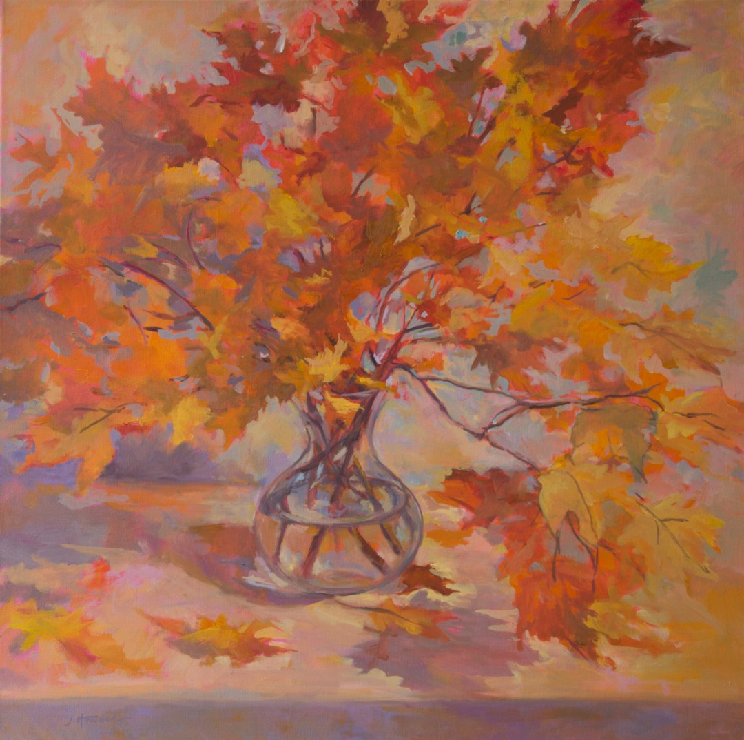 "Yellow Leaves, 3o"" x 30"", oil on canvas"