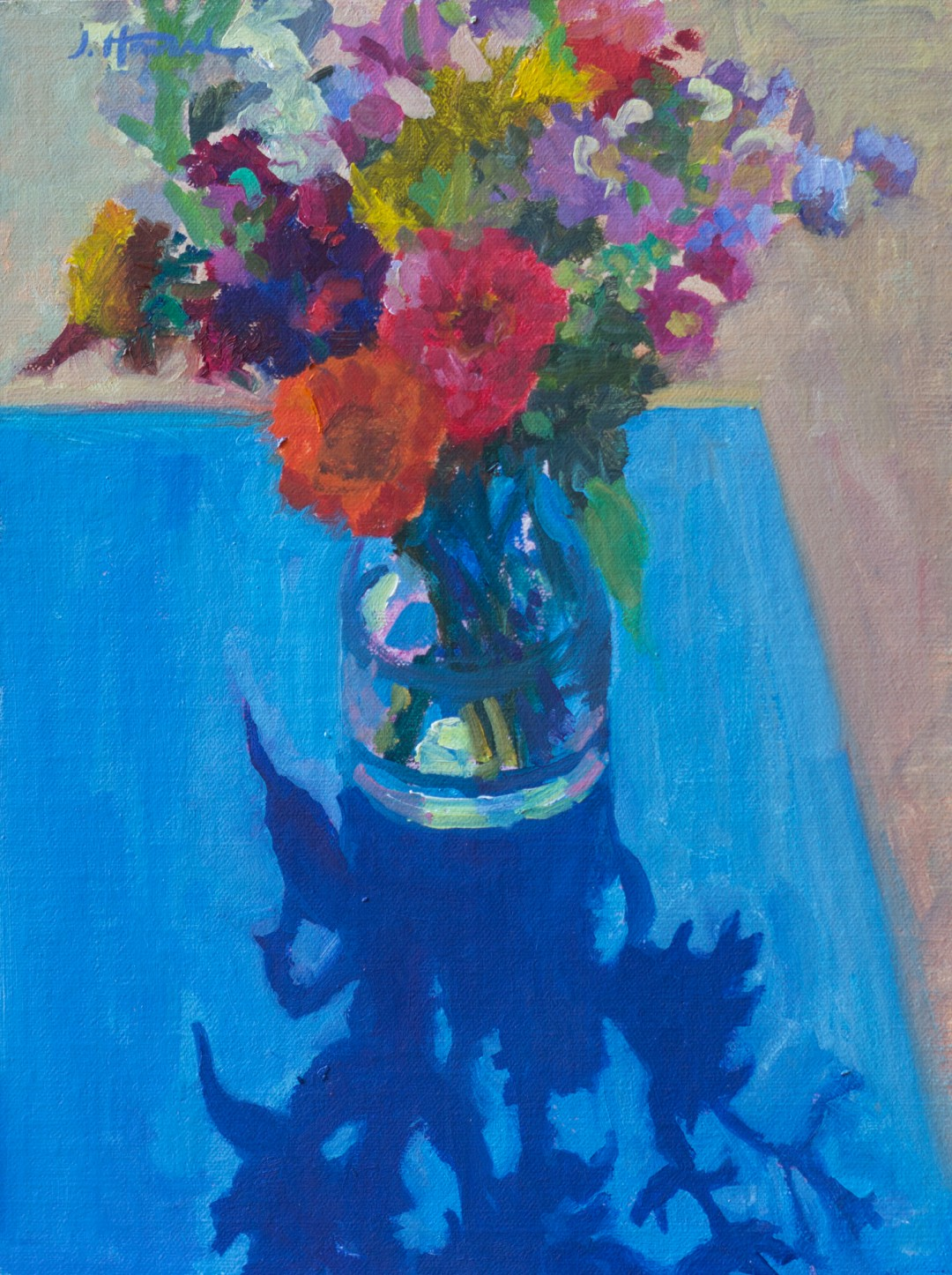 Bouquet On Blue,