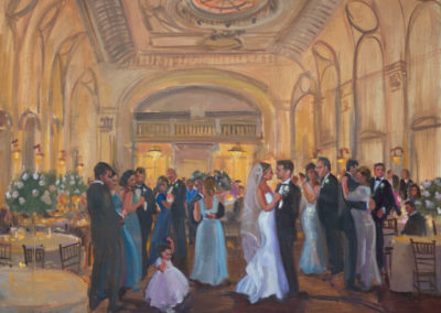 Live Event Painting by Janet Howard-Fatta, Bourne Mansion, Oakdale, NY