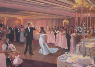 Live Event Painting At the Glen Island Harbor Club by Janet Howard-Fatta