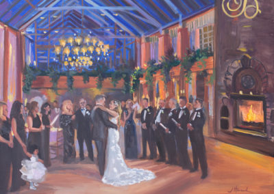 Live Event Painting At the Fox Hollow, Jericho, NY