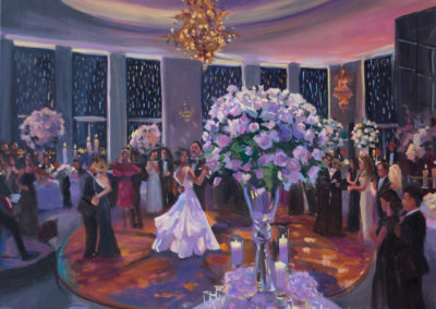 Live Event Painting At the Rainbow Room, 30 Rockefeller Center, NYC