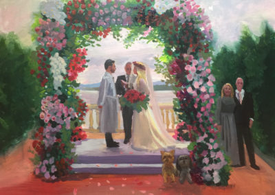 Amazing Chuppah!, this is my only all acrylic - done that night - painting that I have done!