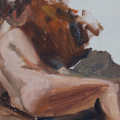 figure-study-2, 5 x7, oil on panel