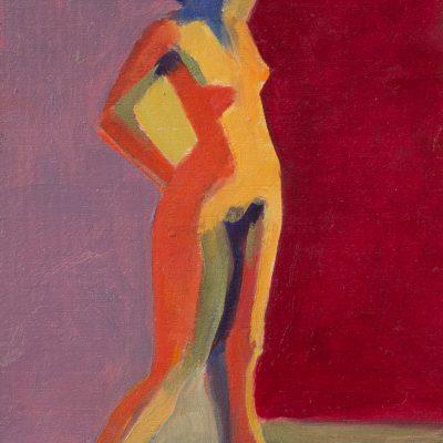 Untitled 12, oil on panel, 5 x 7, figure study