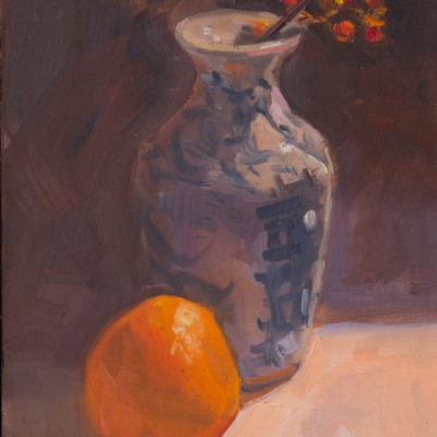 Vase And Clementine