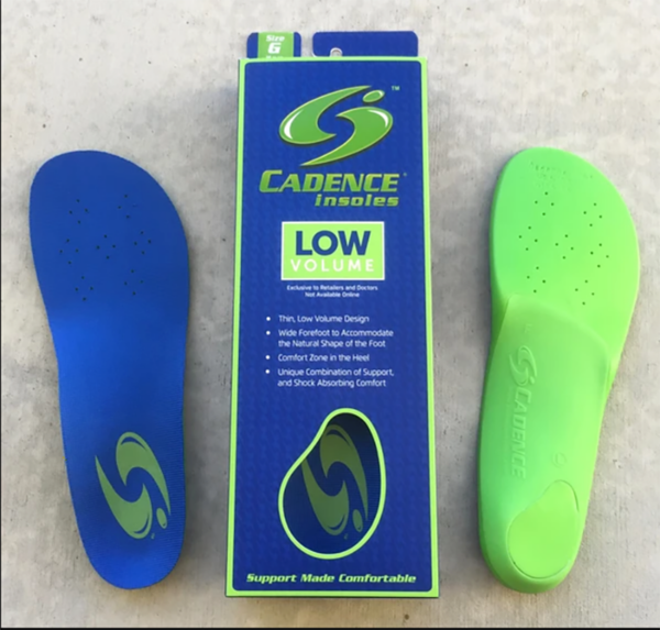 cadence low volume insole
