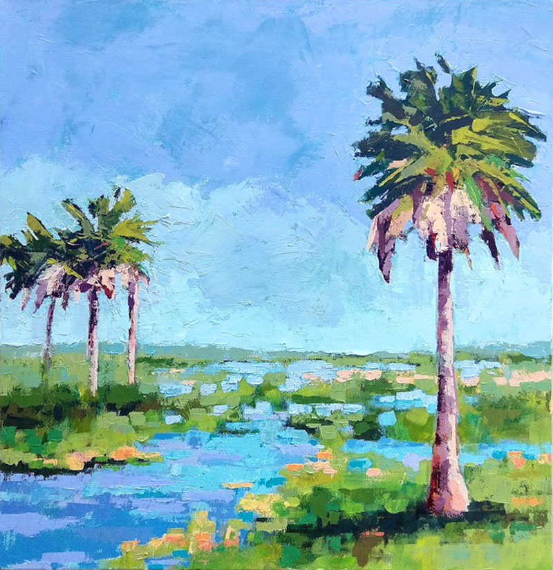 PALMS ON THE MARSH