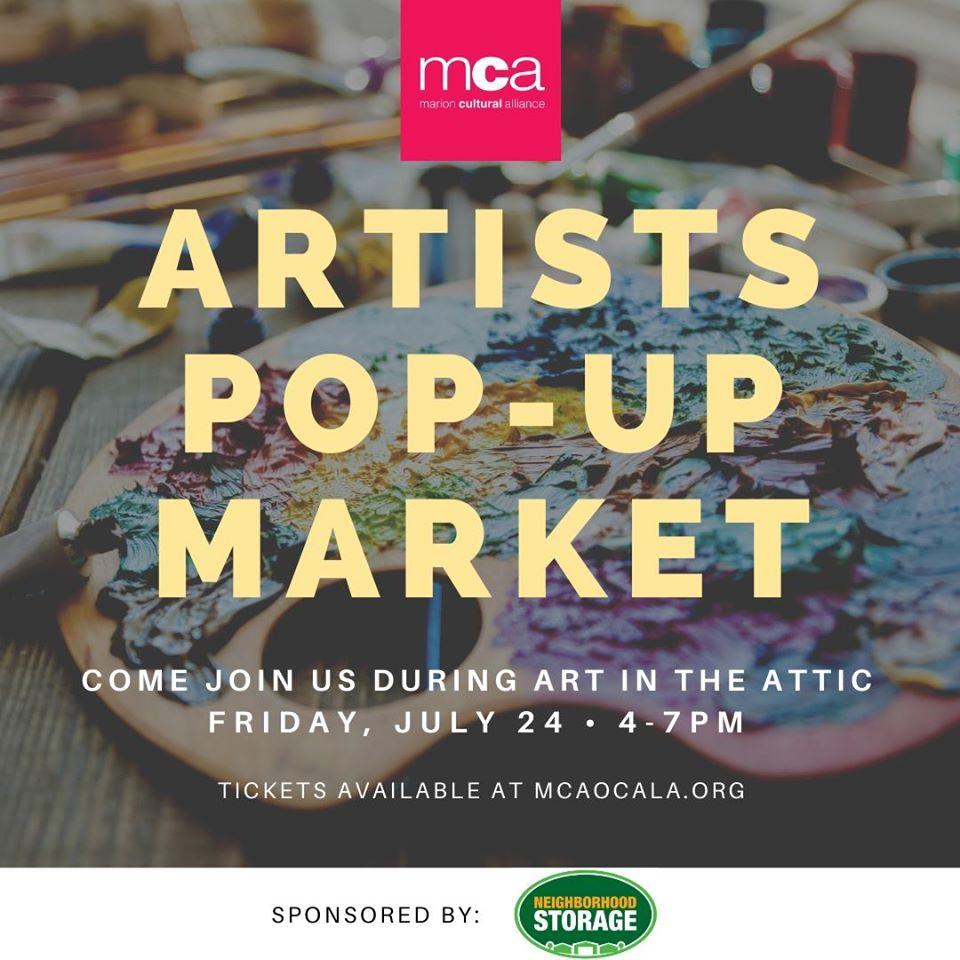 artists popup market