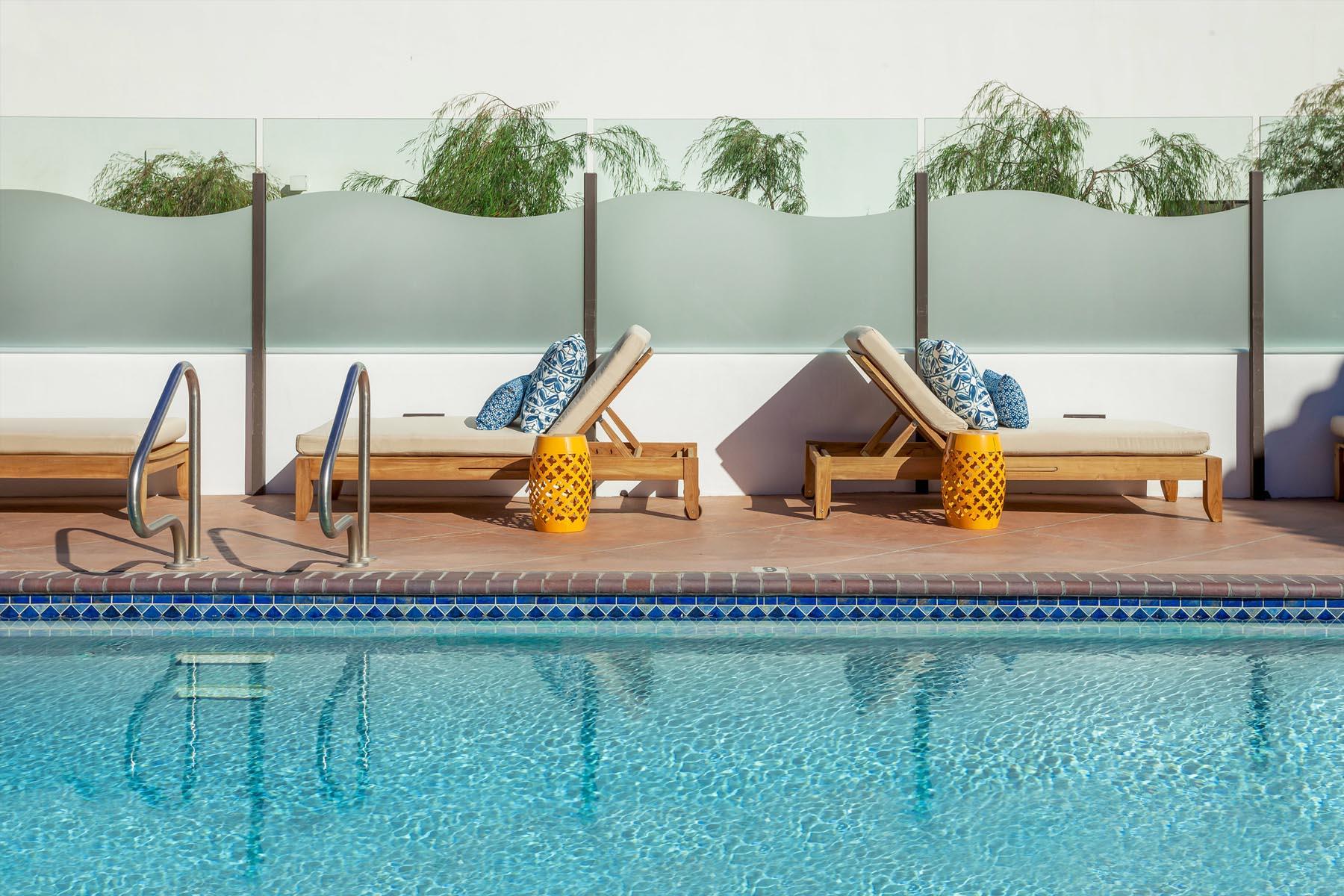 Blue Sands inn lounge pool