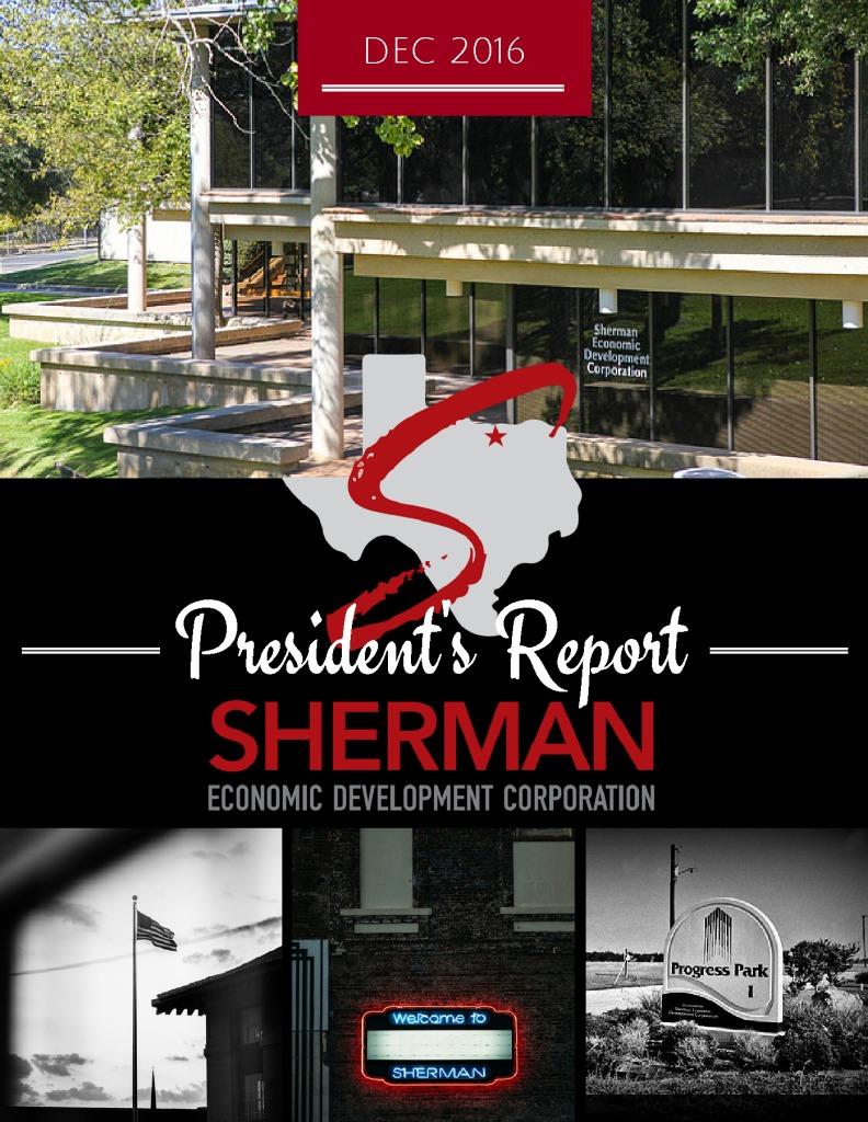 thumbnail of Dec 2016 Presidents Report