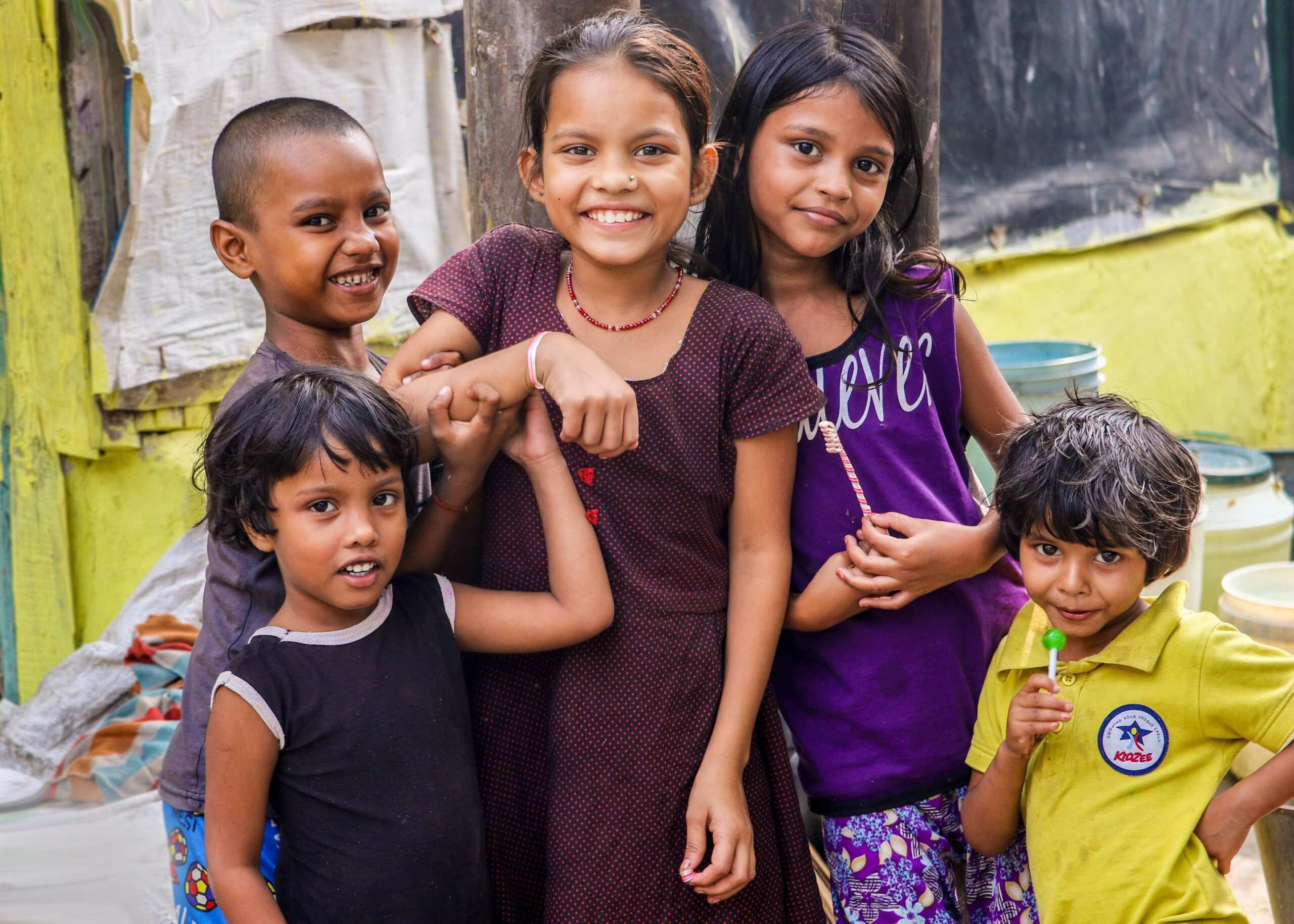Group of kids in India