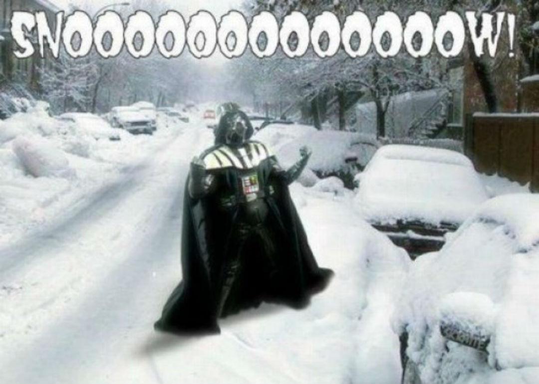 darth vader snow