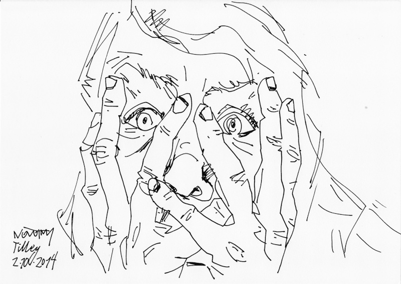 contour drawing daniel novotny anxiety drawing