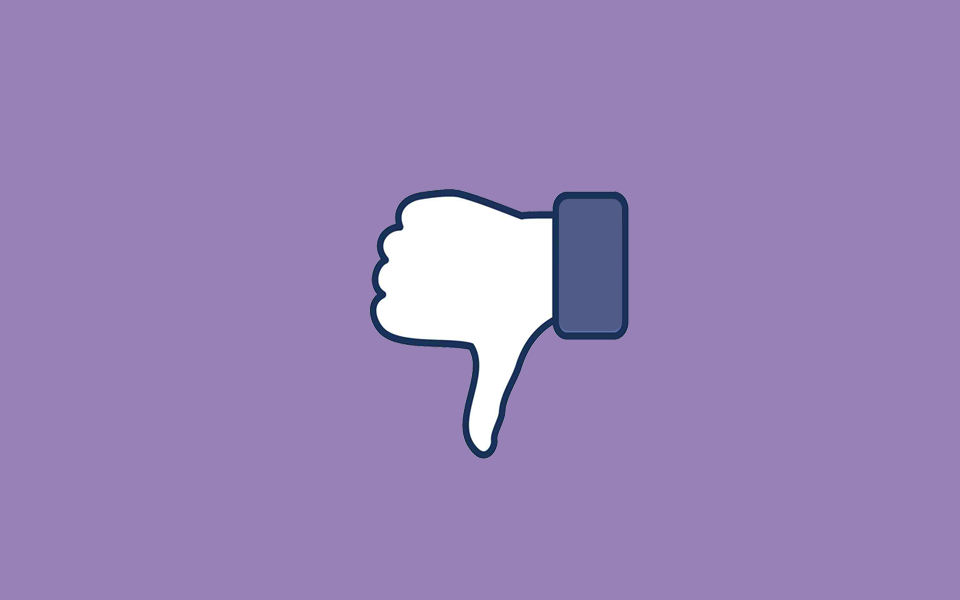 facebook dislike thumbs down