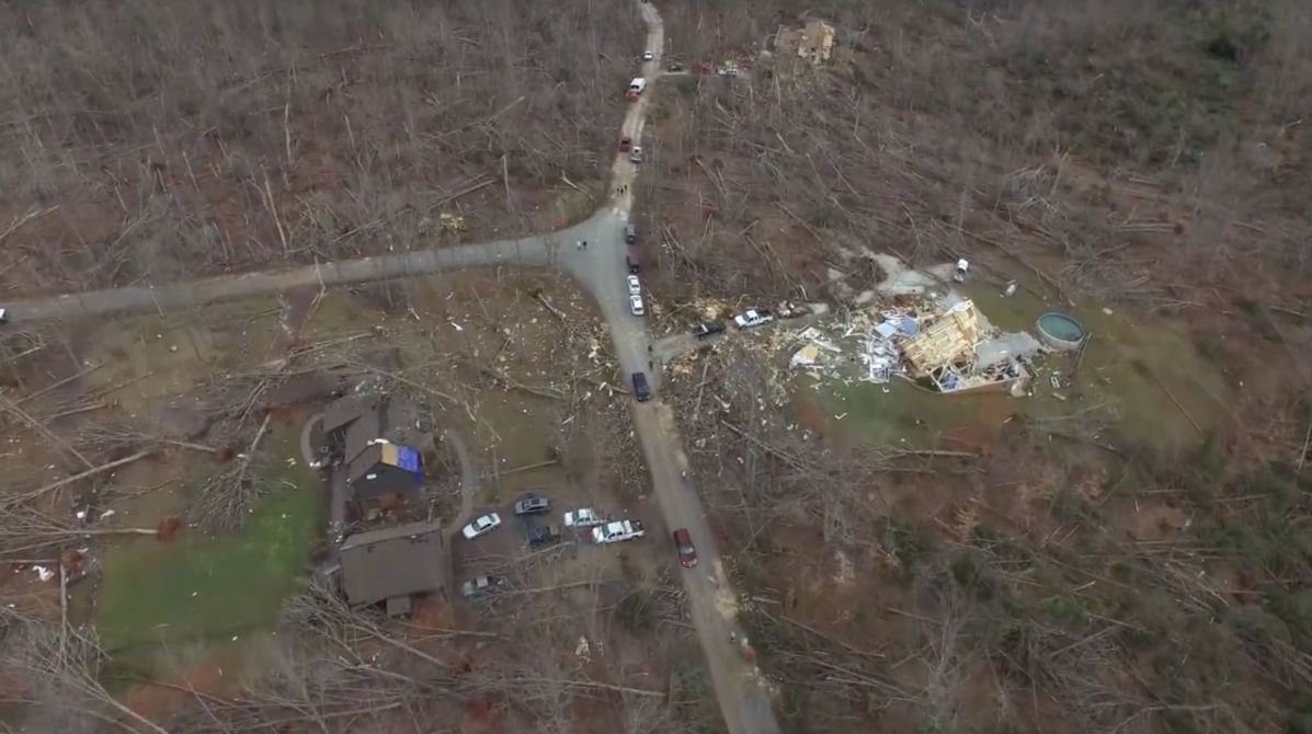 tornado aftermath for two homes appomattox virginia