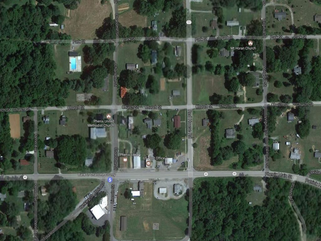 aerial view of phenix virginia