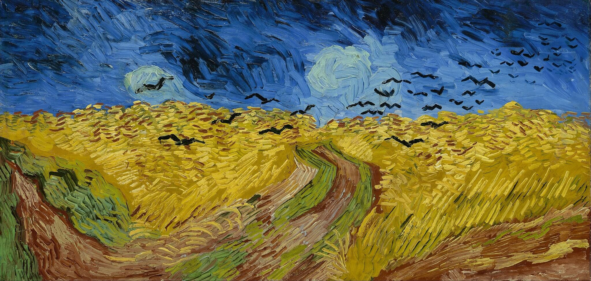 Vincent van Gogh. Wheatfield with crows. July 1890.