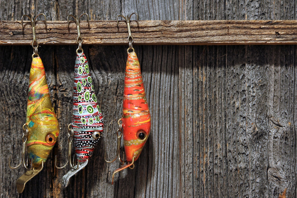fishing lure and treble weight