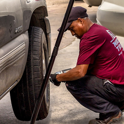 Changing used tire