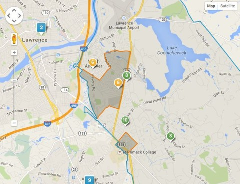 North Andover Atkinson School District Map