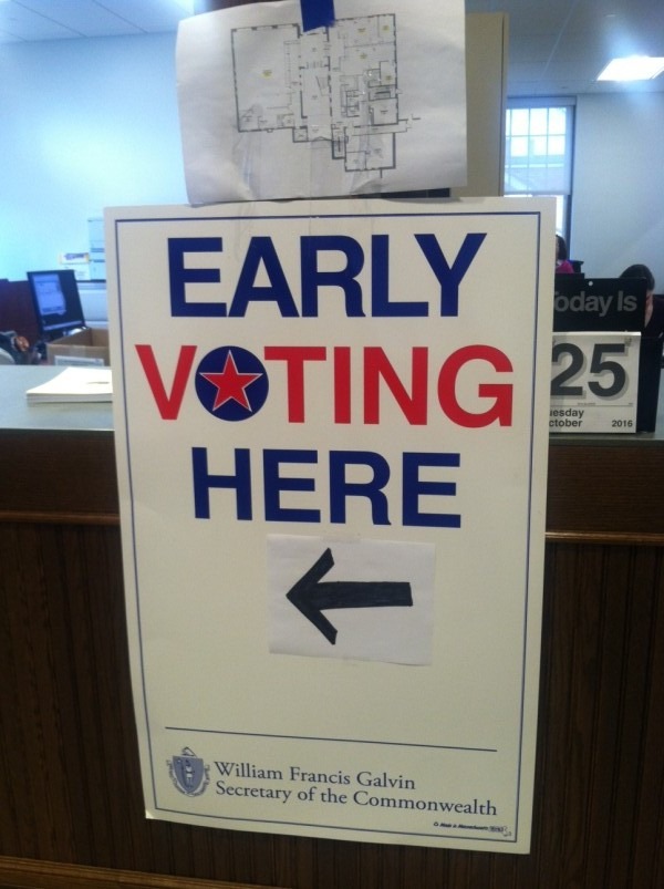 Early Voting in North Andover 2016