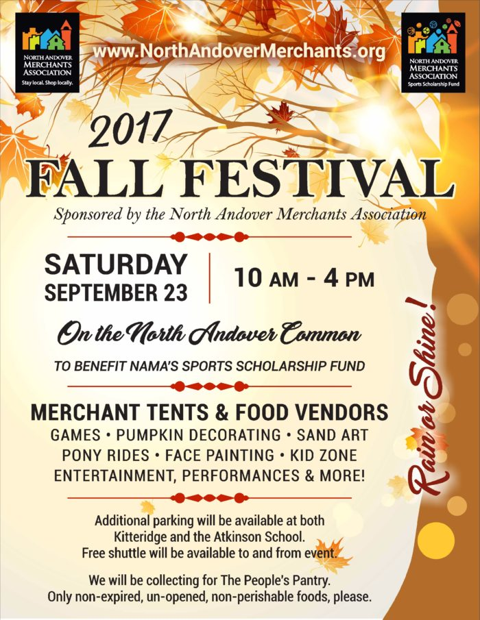 2017 Fall Festival in North Andover MA
