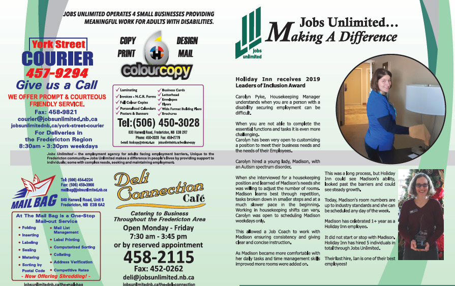 Check out the latest Jobs Unlimited newsletter: