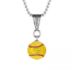 Mini Softball Necklace