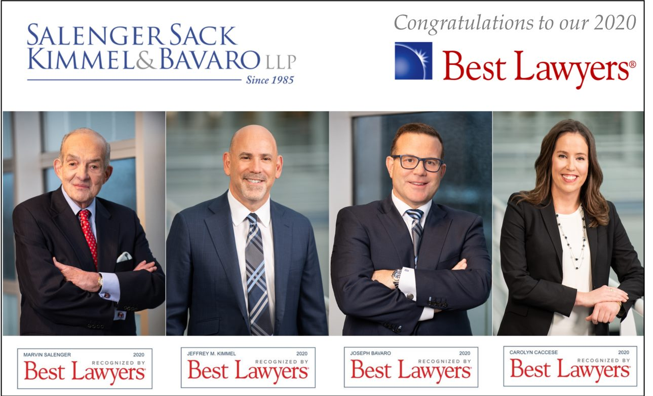 SALENGER, SACK, KIMMEL & BAVARO BEST LAWYERS HONOREES