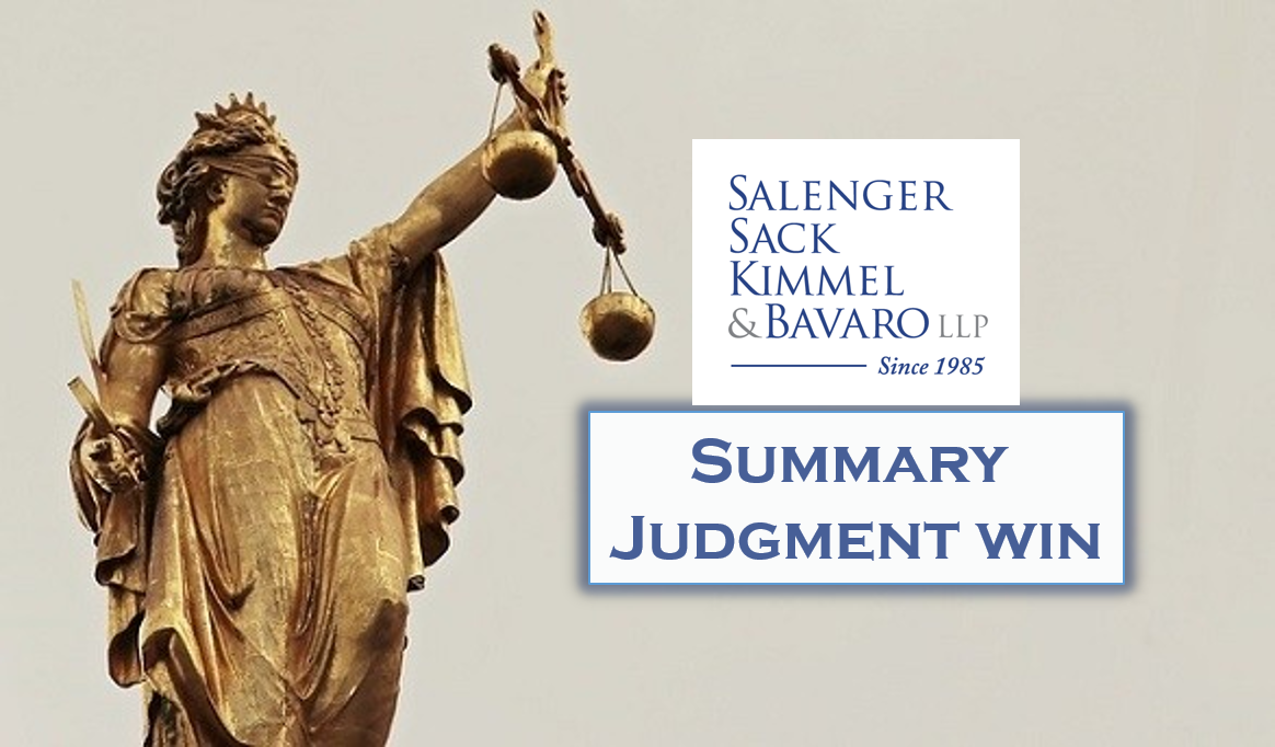 SUMMARY JUDGMENT GRANTED ON MOTION FOR ASSOCIATE STEVE GOKBERK