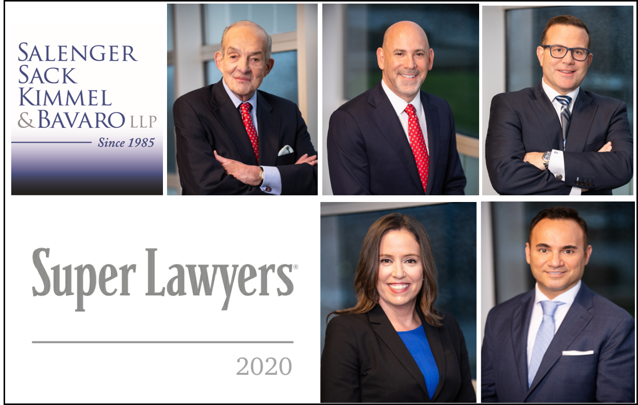 Salenger, Sack, Kimmel & Bavaro Partners and Attorneys Named New York Metro Super Lawyers 2020
