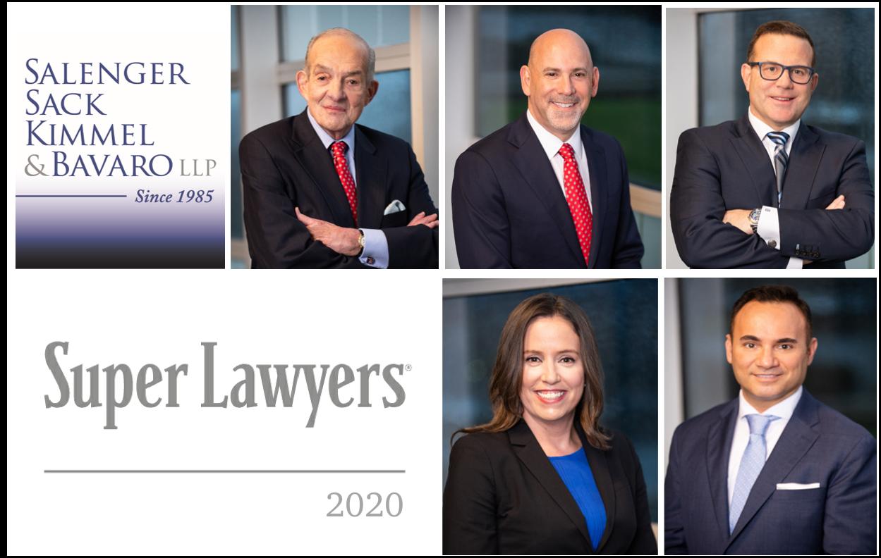 Salenger, Sack, Kimmel & Bavaro Partners and Attorneys Named New York Metro Super Lawyers 2020