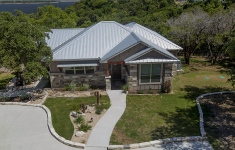 aerial view, new home