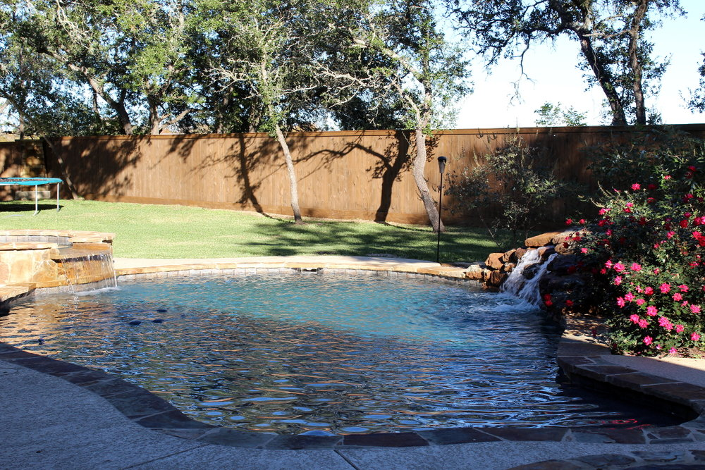 Pool with landscaping