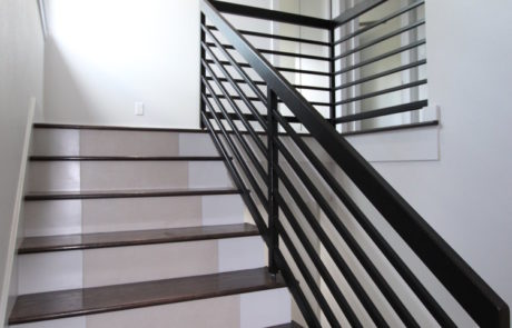 staircase with custom rail
