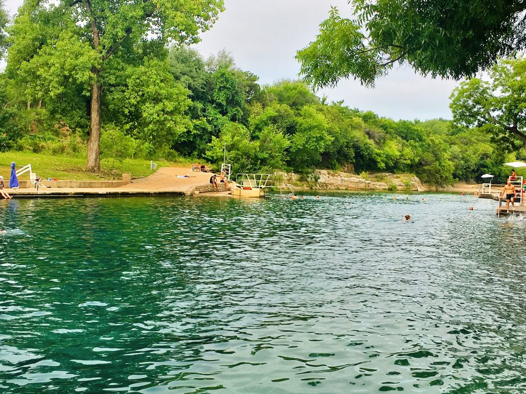 Hop in Barton Spring Pool after running the Greenbelt, one of our fave shaded running routes