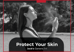 Applying sunscreen to protect your skin during summer training