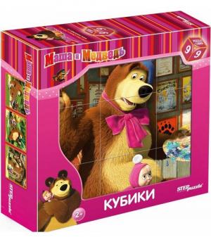 """Степ. Кубики 9 шт. """"Маша и Медведь"""""""