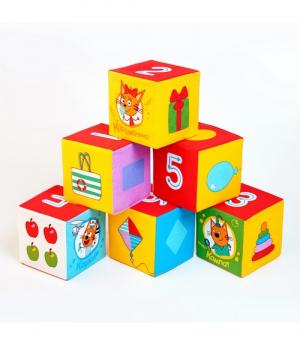 """Игрушка кубики """"Три Кота""""(Математика)"""