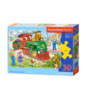 Puzzle-30 MIDI В-03433 Зеленый локомотив