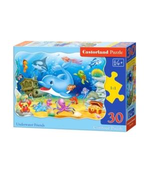 Puzzle-30 MIDI В-03501 Подводные друзья