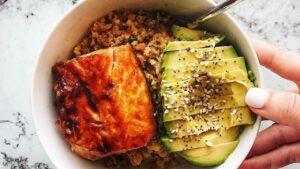 Asian Glazed Salmon Bowl