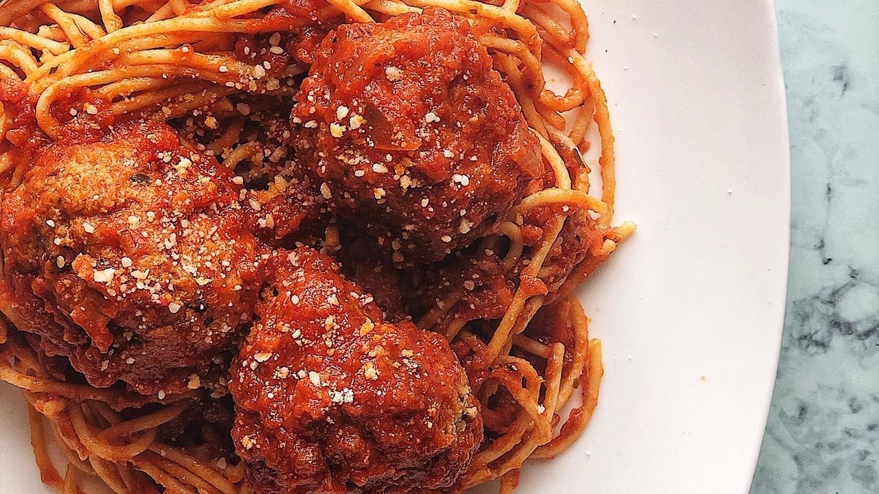 Spaghetti with Turkey Zucchini Meatballs