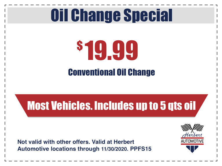 Conventional Oil Change Coupon