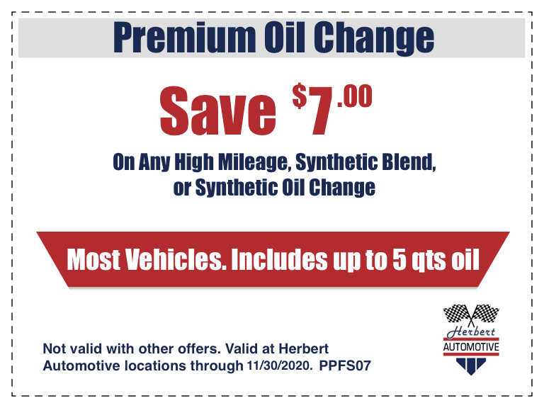 Premium Oil Change Coupon