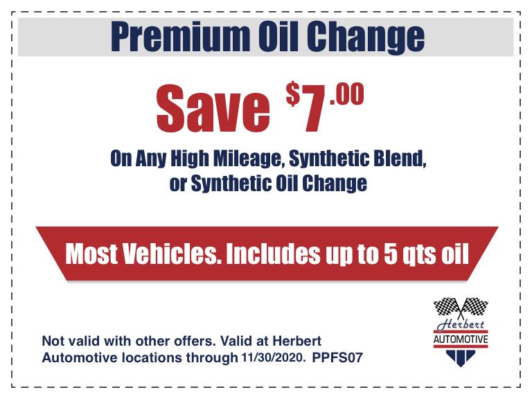 Premium Oil Change Coupon